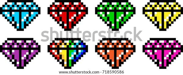 Image Vectorielle De Stock De Variété Dart Pixel De Diamond