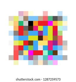 Pixel censored sign. Black censor bar concept. Vector illustration EPS10