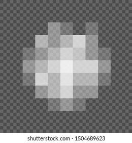 Pixel censored signs for design. Censorship rectangle texture. Black censor bar on a transparent background – stock vector