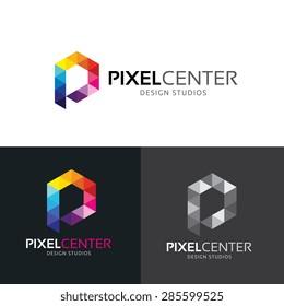 Pixel Center Vector Logo Template