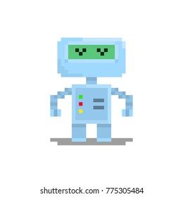Pixel character robot for games and web sites