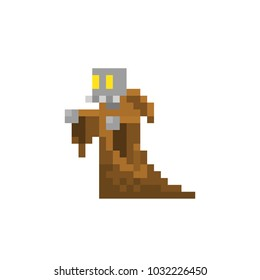 Pixel character warlock for games and websites