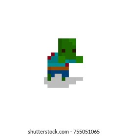 Pixel character zombie for games and web sites