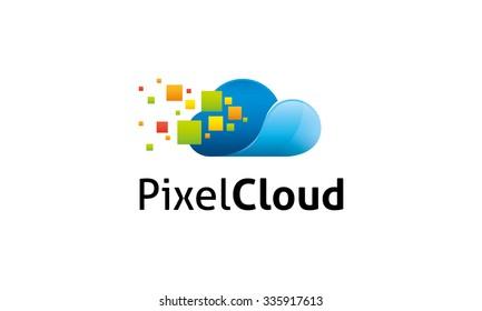 Pixel Cloud Logo