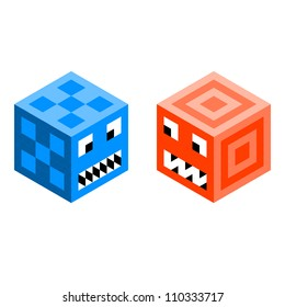 Pixel Cube Monsters