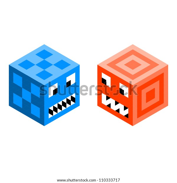 Pixel Cube Monsters