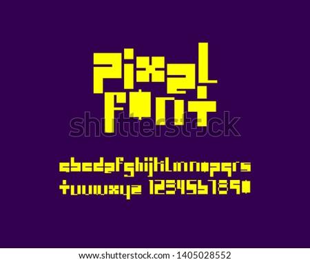 Pixel Designer Font Set Vector Format Stock Vector (Royalty Free