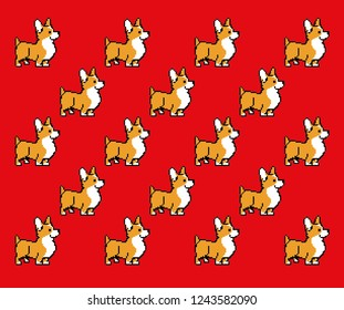 pixel dog corgi vrctor