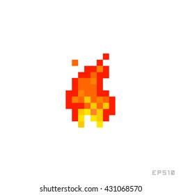 Pixel Fire Icon