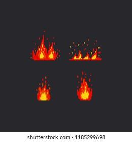 Pixel fire set.8bit.