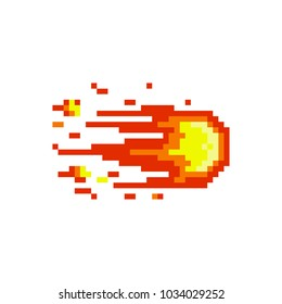Pixel fireball for games and websites