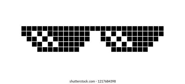 pixel glasses vector image like a boss thug life