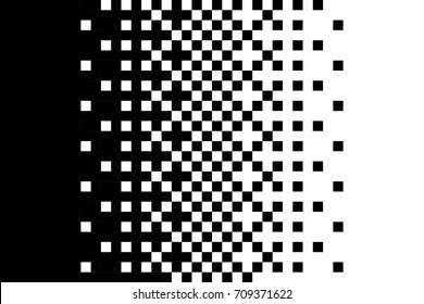 Pixel gradient pattern Classic dithering design Isolated black elements on white background Vector texture