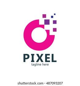 Pixel logo, Technology logo