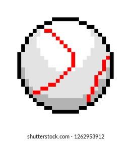 Pixel look art vector baseball ball