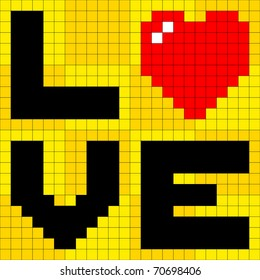 Pixel Love Heart