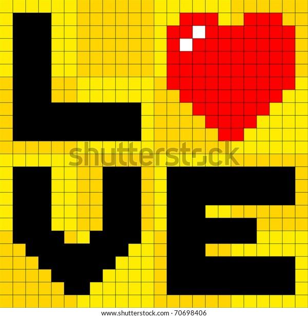 Pixel Love Heart
