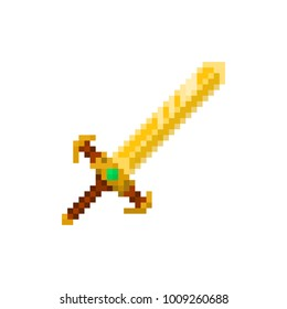 Pixel magic sword for games and websites