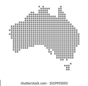 pixel map of australia vector dotted map of australia isolated on white background abstract