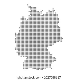 Pixel map of Germany. Vector dotted map of Germany isolated on white background. Abstract computer graphic of Germany map. vector illustration.
