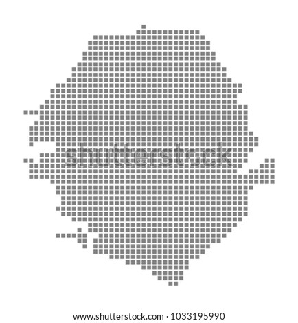 Pixel Map Sierra Leone Vector Dotted Stock Vector (Royalty Free ...