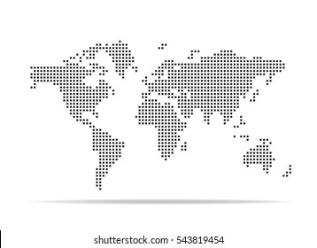 Dotted World Map Images, Stock Photos & Vectors | Shutterstock