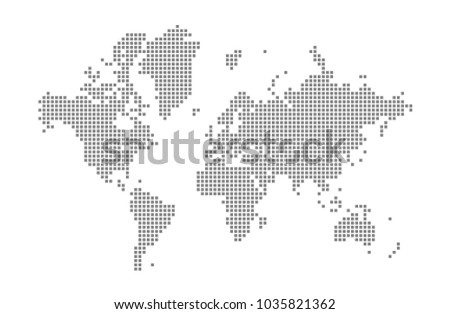 Pixel map world vector dotted map stock vector royalty free pixel map of world vector dotted map of world isolated on white background abstract gumiabroncs Choice Image