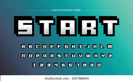Pixel Modern Square Typography Font Design