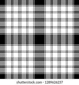 Pixel monochrome plaid seamless pattern. Vector illustration.
