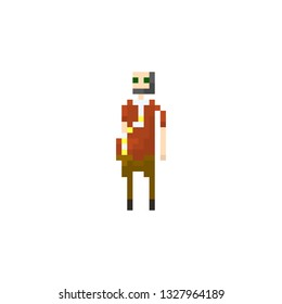 Pixel oldster character for games and websites