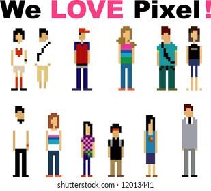 pixel peoples