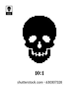 Pixel perfect skull icon