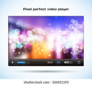 Pixel perfect video player for web. Easy re size and edit. Pause icon included.