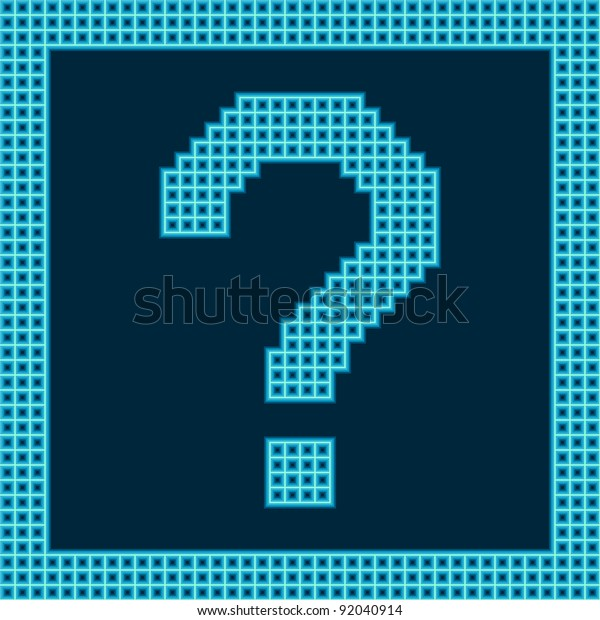 Pixel Question Mark Stock Vector (Royalty Free) 92040914