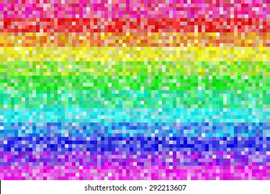 Pixel Rainbow Patters Background. EPS8 Vector