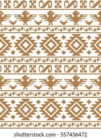 pixel seamless pattern Aztecs