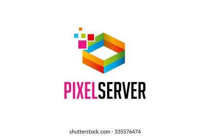 Pixel Server Logo