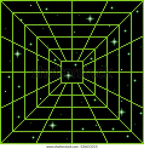 Pixel Square Vortex Portal Pattern