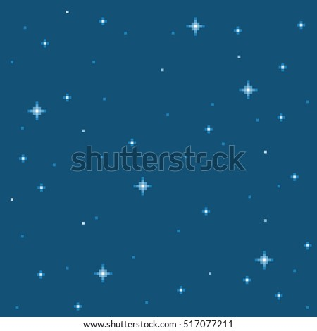 Pixel Star Seamless Background Tile