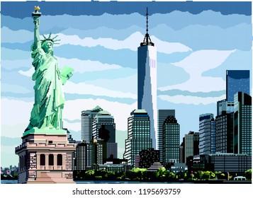 Pixel Statue of Liberty