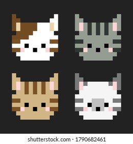 Pixel Cat Images Stock Photos Vectors Shutterstock Cat pixel art number coloring book is so adorable you just can't help but yell, it's so fluffy!. https www shutterstock com image vector pixel tabby cat head art vector 1790682461