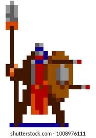 Pixel warior character