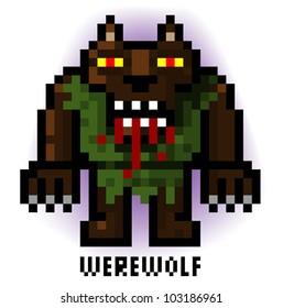 pixel werewolf