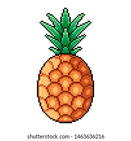 Pineapple Pixel Art Images Stock Photos Vectors