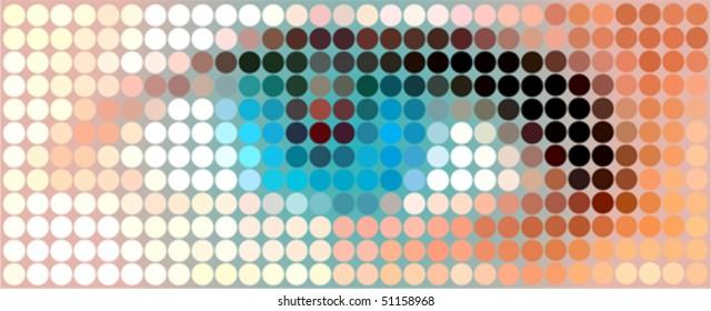 Pixelated blue eye