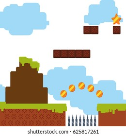 Pixelated scenery videogame