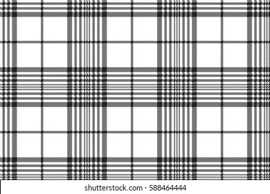 Pixels black and white check plaid seamless pattern. Vector illustration