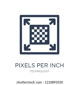 Pixels per Inch icon. Trendy flat vector Pixels per Inch icon on white background from Technology collection, vector illustration can be use for web and mobile, eps10