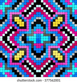 pixels psychedelic abstract geometric background