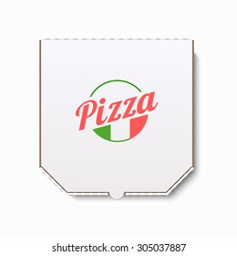 Pizza box. Realistic vector illustration